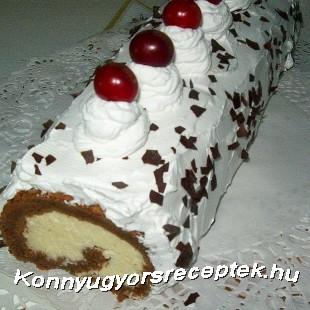 Csokoládés -kókuszkrémes tekercs recept