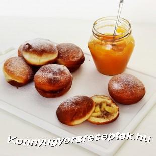 Almás-fahéjas dióval töltött fánk recept