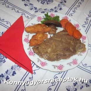 Borsos-mustáros marhasült zöldségágyon recept