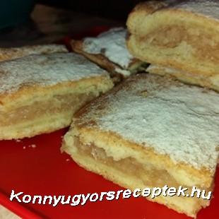 Szénhidrát csökkentett almás lepény recept