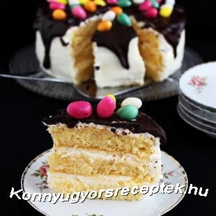 Vaníliakrémes húsvéti torta recept