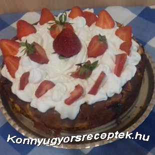Epres sajttorta  recept