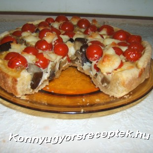 Paradicsomos padlizsános pite recept