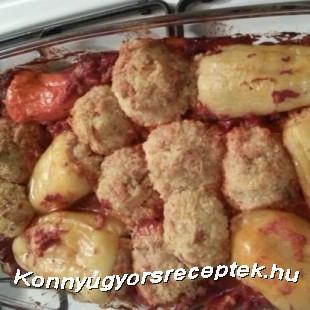Köleses töltött paprika recept