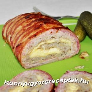Baconbe tekert sajtos Stefánia recept