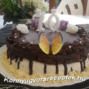 Krémes-habos csokoládé torta