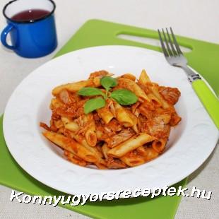 Tonhalas-paradicsomos tészta recept