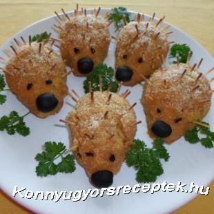 Zöldbabos sünifasírt recept