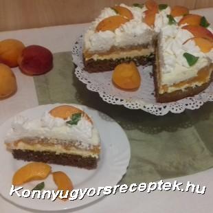 Túrómousse -torta sárgabarackkal  recept