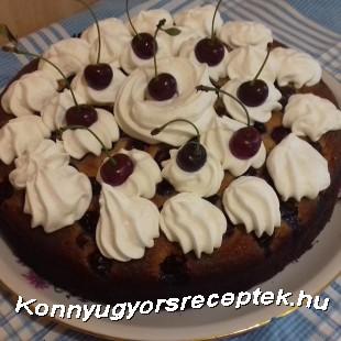 Diós meggyes pite torta recept