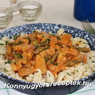 Temesvári sertéstokány recept