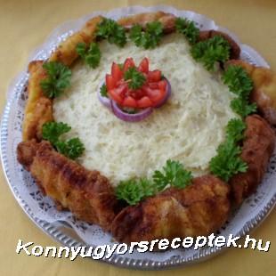 Rántott hús torta recept