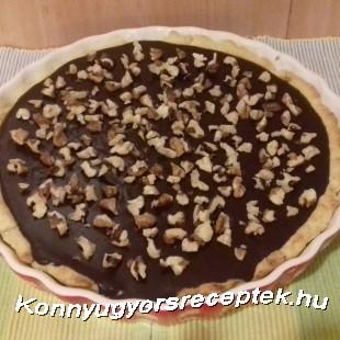Diós-csokis karamellás tart recept