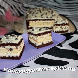 Kókuszos hókocka csokoládé cseppekkel recept