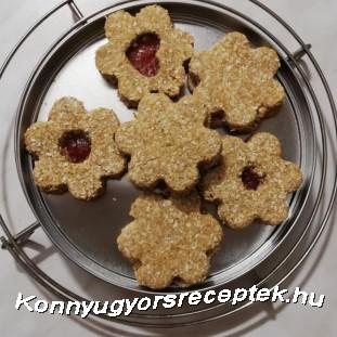 Kókuszos linzerkarika recept
