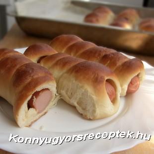 Virslis tekercs recept