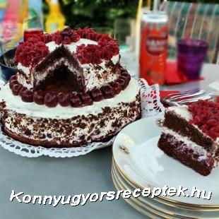 Feketeerdő emeletes torta ahogy én készítem recept