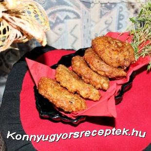 Cukkinis fasírt gombával,kakukkfűvel recept