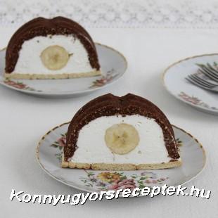 Banános-kekszes alagút (Sütés nélküli) recept