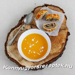 Gyömbéres-narancsos sütőtökkrémleves recept