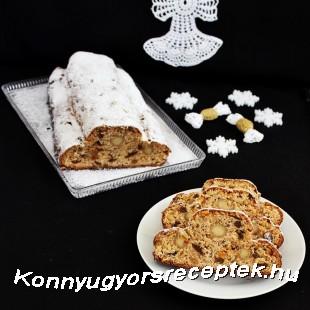Marcipános-túrós Stollen recept