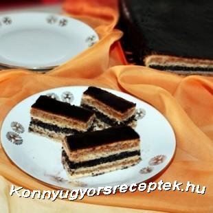 Diós-mákos zserbó recept