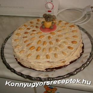 Mogyorótorta recept
