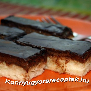 Csokoládés-kókuszos szelet recept