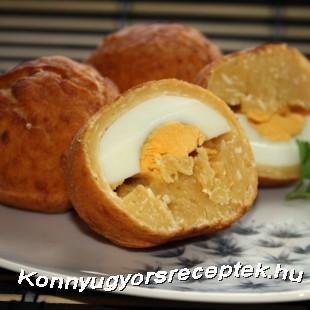 Kemény tojás tésztában sütve recept