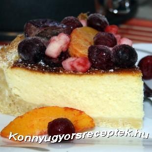 Sajtkrémtorta gyümölcsökkel recept