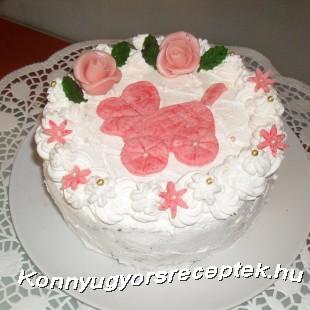 Babaváró torta ( gesztenyekrémes) recept