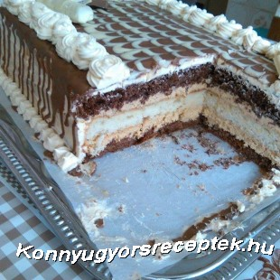 Tejkaramella krémes torta