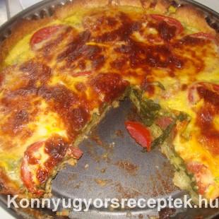 Spenótos pite sajttal recept