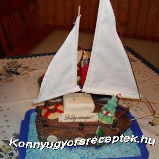 Vitorlás hajó recept