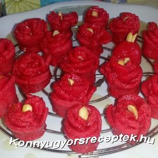 Gül Tatlısı - sziruppal öntözött rózsák recept