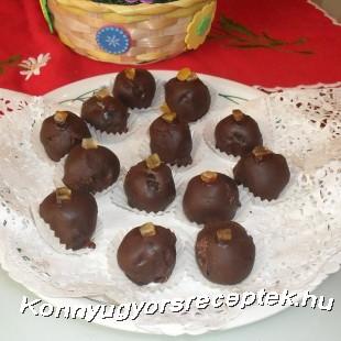 Rumos  csokoládé golyó recept