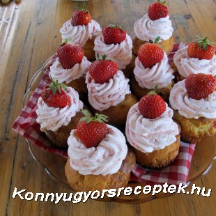 Duplán epres muffin recept