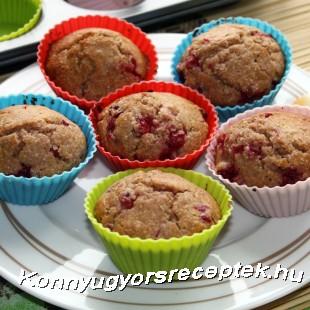 Ribiszkés muffin recept