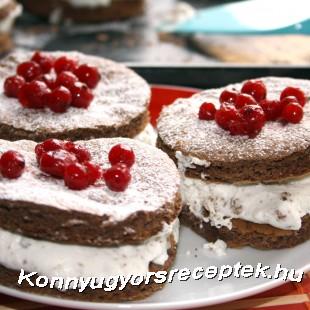 Gyümölcsös csokikorong recept