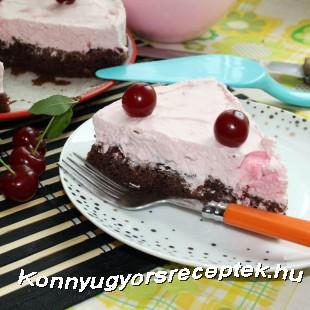 Joghurtos meggytorta recept