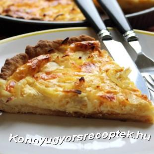 Sajtos-hagymás pite  recept