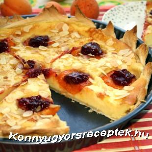 Sárgabarackos sütemény leveles tésztából recept