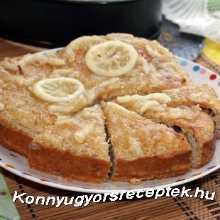 Tésztatorta (citromos-mandulás) recept