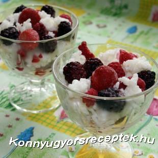 Gyümölcsrizs recept