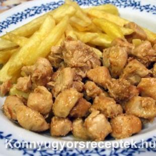 Brassói aprópecsenye csírkehúsból recept