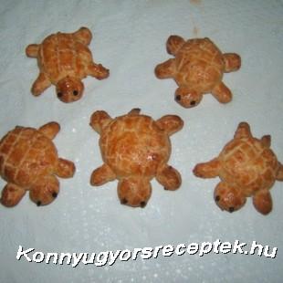 Túrós sajtos teknőcök recept
