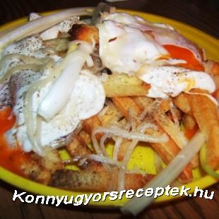 Tükörtojás sült krumplival recept