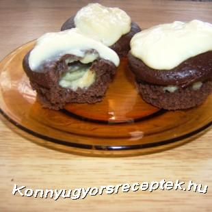 Vanília pudingos csokis muffin