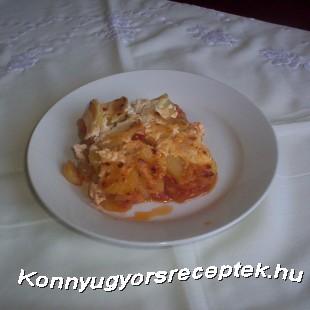 Lecsós rakottkrumpli recept