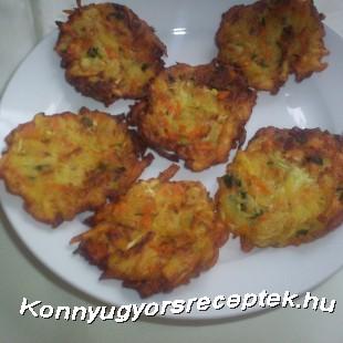 Cukkinis-sérgarépás lepény recept